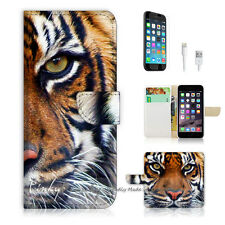 ( For iPhone 6 / 6S ) Wallet Case Cover P0029 Tiger Face