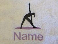 bath gowns Hooded towel name Scared cat embroidered towels