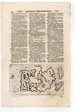 GREECE LASOR A VAREA 1713 MAP OF MILOS MILO