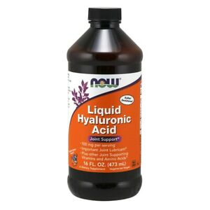 Now Foods Hyaluronic Acid 100 mg Liquid - 16 fl oz FRESH, FREE SHIPPING