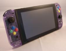 New Custom Clear Atomic Purple Nintendo Switch Console & Joycons (FULL SYSTEM)