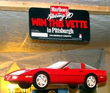 1990 Corvette Marlboro PITTSBURGH Racing hang up Man Cave Mobile SIGN Promo
