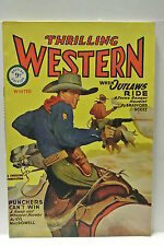 Thrilling Western. Winter, 1945. Featuring When Outlaws Ride by Bradford Scott.