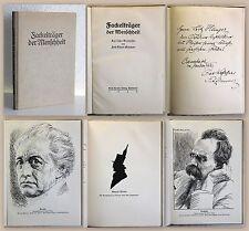 Zimmermann Fackelträger der Menschheit Lyrische Bildnisse 1926 mit Widmung xz