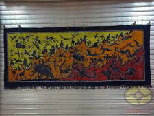 "Art Wall Hanging Batik Tapestry- Chinese Han Dynasty Hundreds of Animal  34x79"""