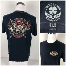 Lucky Brand Mens Large Shirt Kamikaze Motorcycle Club Rare