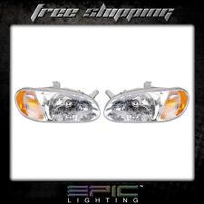 Fits 1998-01 Kia Sephia Headlight Headlamp Pair Left right set