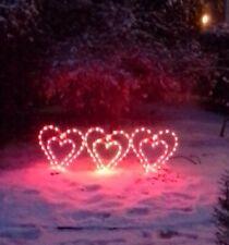 Lighted HEART Display Outdoor Valentine Decor Yard Art
