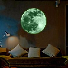 30cm Home Kids Room Luminous Decor Moon Wall Stickers Glow In The Dark Mural Art