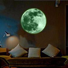 30cm Home Kids Room Luminous Decor Moon Stickers Wall Glow In The Dark Mural Art