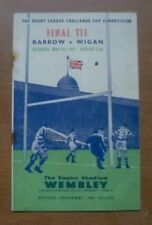 More details for 1951 - barrow v wigan, challenge cup final match programme.