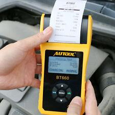 AUTOOL Car Cranking Charging Battery System Tester Analyzer w/ Printer 12V