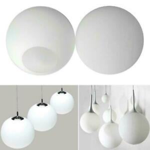 Matte White Globe Glass Lamp Shade Replacement Round Covers Fixture Part M2P9
