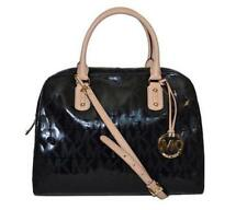 MK Signature Metallic Mirror Large Satchel black bag Michael Kors Authentic $398