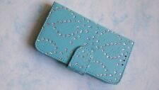 NEW DELUX JEWELLED BLUE CASE FOR VARIOUS MOBILE PHONES