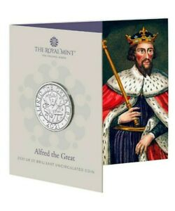 NEW** Royal Mint - 2021 King Alfred the Great - BU £5 Coin - Five Pounds