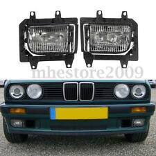 Pair Front Bumper Clear Plastic Fog Lights For BMW E30 318i 318is 325i 85-93