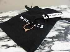 BN Whistles rose gold triangle stud ring NEW Medium