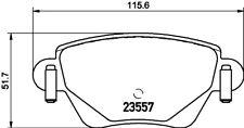 Mintex MDB2081 C2C33408N Rear Brake Pad Set Jaguar X-Type