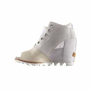 Sorel Women's Joanie Mesh Wedge Open Toe Boots-Sea Salt Elk 12