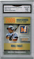 2009  Mike Trout  MIllville Thunders High School Rookie Gem Mint 10