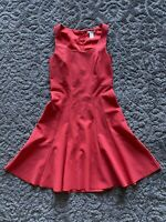 H&M Women's Sleeveless Evening Party Dress 6 us 36 eu Size Red Back Zipper