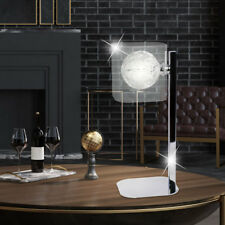 Braid ball table lamp ALU living sleep room glass reading night light chrome new