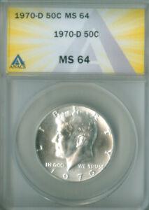 1970-D KENNEDY HALF DOLLAR ANACS MS 64 (2126363)