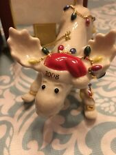 Lenox 2008 Annual Merry Moose Moosey Mishap Ornament New in Box
