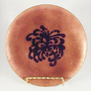 """vtg ANNEMARIE DAVIDSON 6"""" Handmade Mid Century Abstract Copper Enamel Plate"""