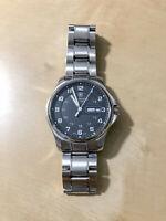 Victorinox Officers Black Dial Stainless Steel Watch with Genuine BRACELET