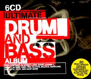 ULTIMATE DRUM & BASS ALBUM - 6 X CDS - FULL UNMIXED TRACKS D&B JUNGLE CD CDJ DJ