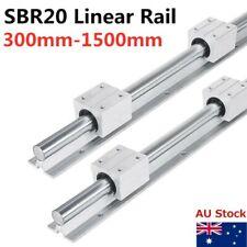 SBR20 Linear Rail Guide 300-1500mm Slide Shaft Rod Set 4X SBR20UU Bearing Block