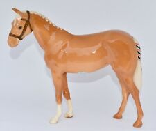 Rare - Beswick Show Pony - Palomino Horse Wearing a Bridle & Plaited Tail H259