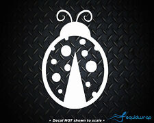Ladybug Cute Girly Car Decal / Laptop Sticker - WHITE 5""