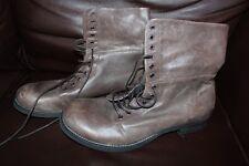 Firetrap Men Distressed Leather Coffee Brown Boots Size EU 46 UK 12 BNWT
