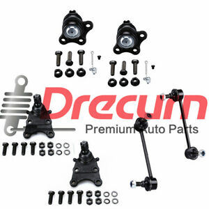 6Pc  Front Upper Lower Ball Joint Sway Bar Set For Amigo Rodeo Sport Passport