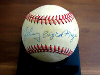 JOHNNY MIZE BIG CAT WSC YANKEES CARDS HOF SIGNED AUTO VINTAGE GU'ED BASEBALL JSA