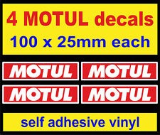 4 Motul Huile Autocollants Rouge Rally Race Vélo Autocollants Voiture Van Bus Camion Mini Dub 5000