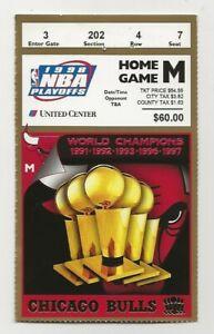 1998 Chicago Bulls NBA Finals Ticket vs Jazz Michael Jordan Last Bulls Home Game