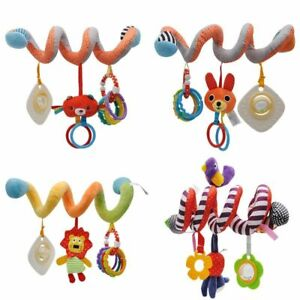 Baby Stroller Toys Newborn Educational Toy Hanging Spiral Rattle Cute Animals