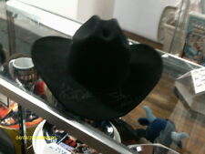 Stan Hansen and Cowboy Bob Orton signed Black Cowboy Hat w/Coa Wwf