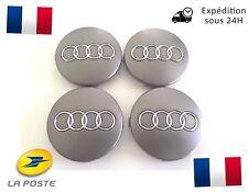 4x Cache Moyeu Centre de Roue Enjoliveur Embleme Jante Logo insigne Audi 60MM