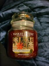 Yankee Candle - WELCOME CHRISTMAS - 14 5 oz - Great Christmas Candle!! - RARE!!
