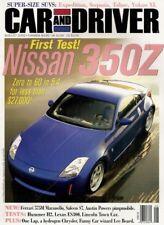 CAR & DRIVER 2002 AUG - 350Z, SALEEN, MARANELLO, BEARD