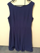 Blue, cobalt sleeveless womens dress, 14