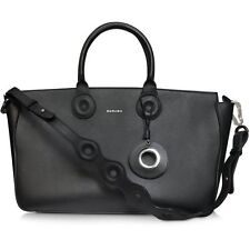 NEW Carven Celebrity Black Medium tote Handbag Purse Embossed straps