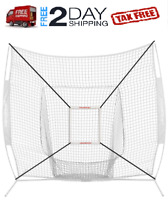 7'×7' Baseball Softball Practice Hitting Training batting Net Frame strike zone'