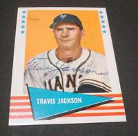1961 Fleer #115 Travis Jackson New York Giants HOF TOUGH Authentic Signed Auto