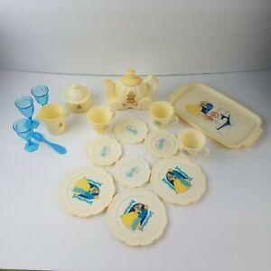 Vintage Tootsietoy Disney Cinderella Fairy Tale  Plastic Tea Set -20 pieces